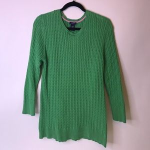 Like-New Gap Green Maternity Cable Knit Sweater